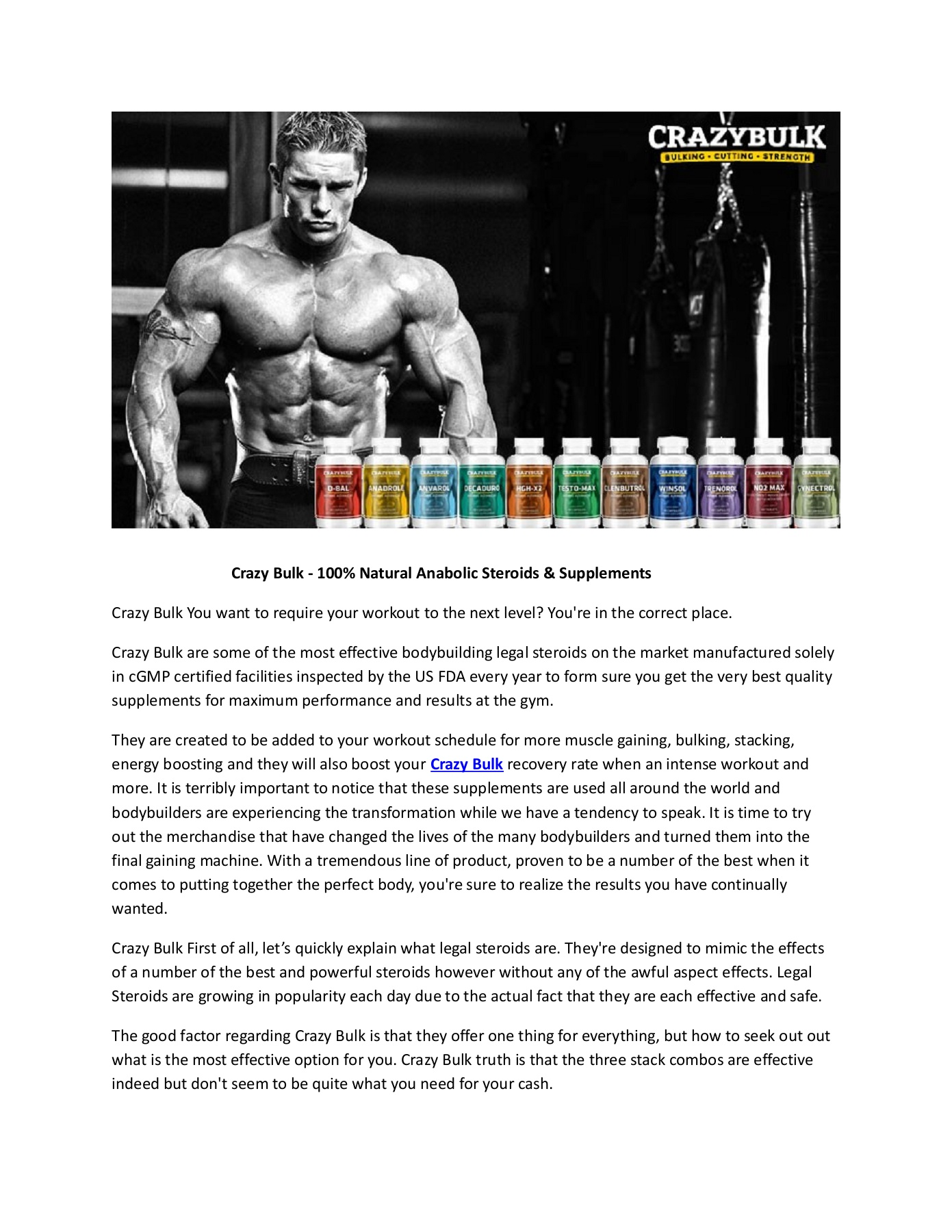 Crazy Bulk - Fast Muscle Gain With Safe Legal Steroids Pages