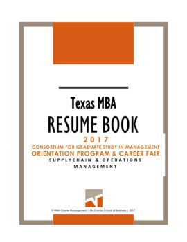 texasmba cgsm resume book 2017 brand management pages 1 8 text