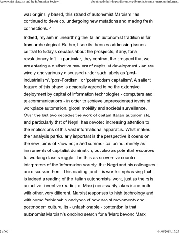 Page 2 - Autonomist Marxism and the Information Society