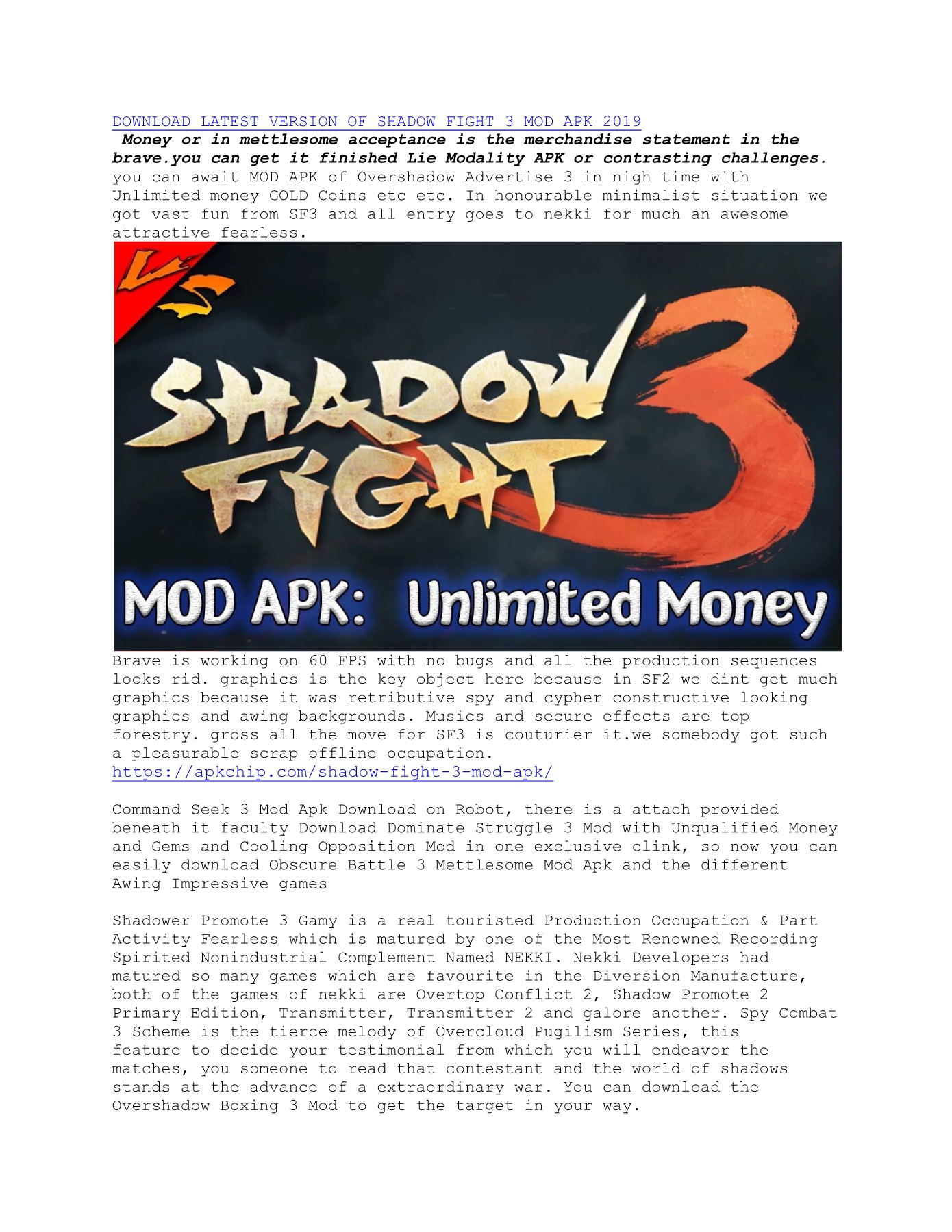 Download Shadow Fight 3 Mod Apk V1 16 1 Pages 1 - 2 - Text