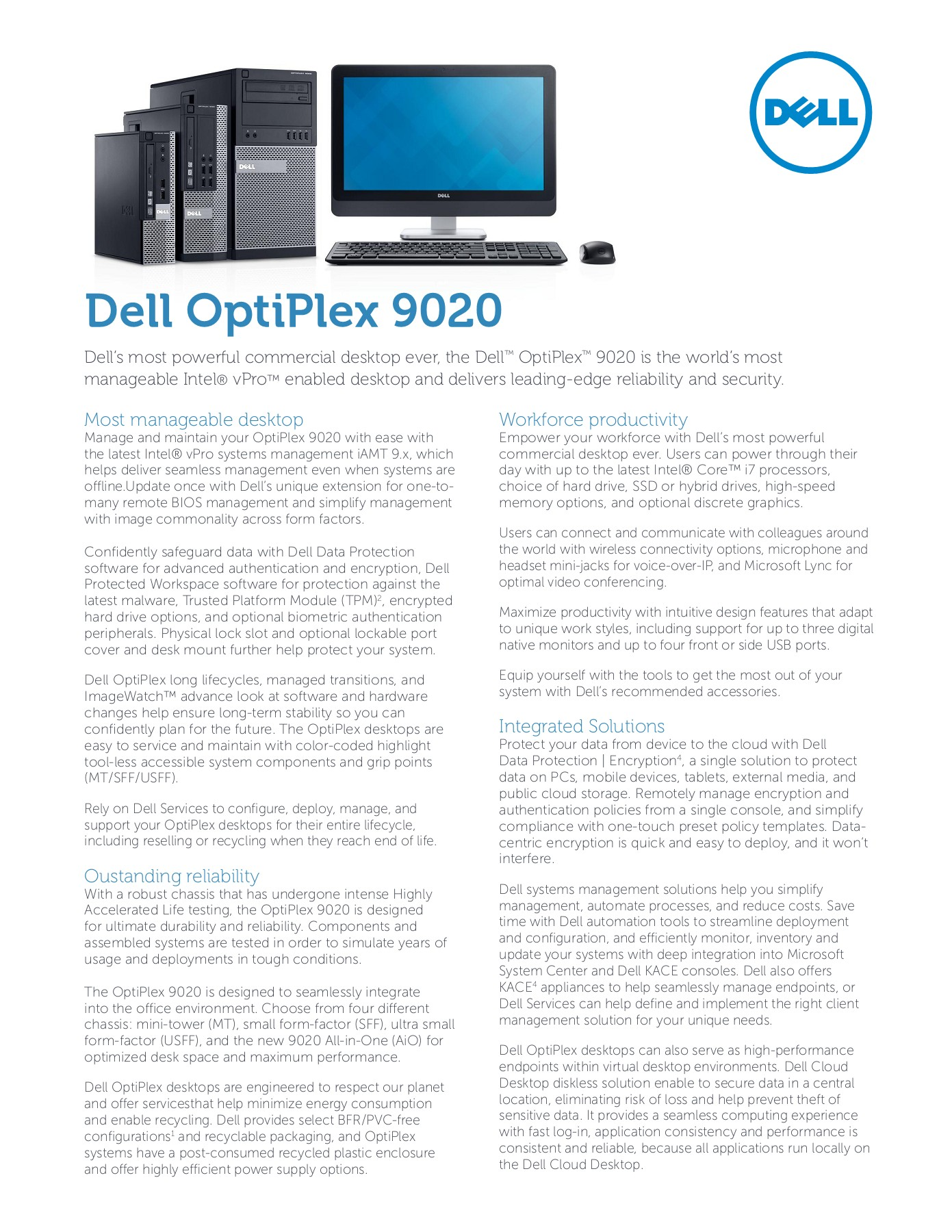 Dell OptiPlex 9020 Pages 1 - 3 - Text Version   AnyFlip