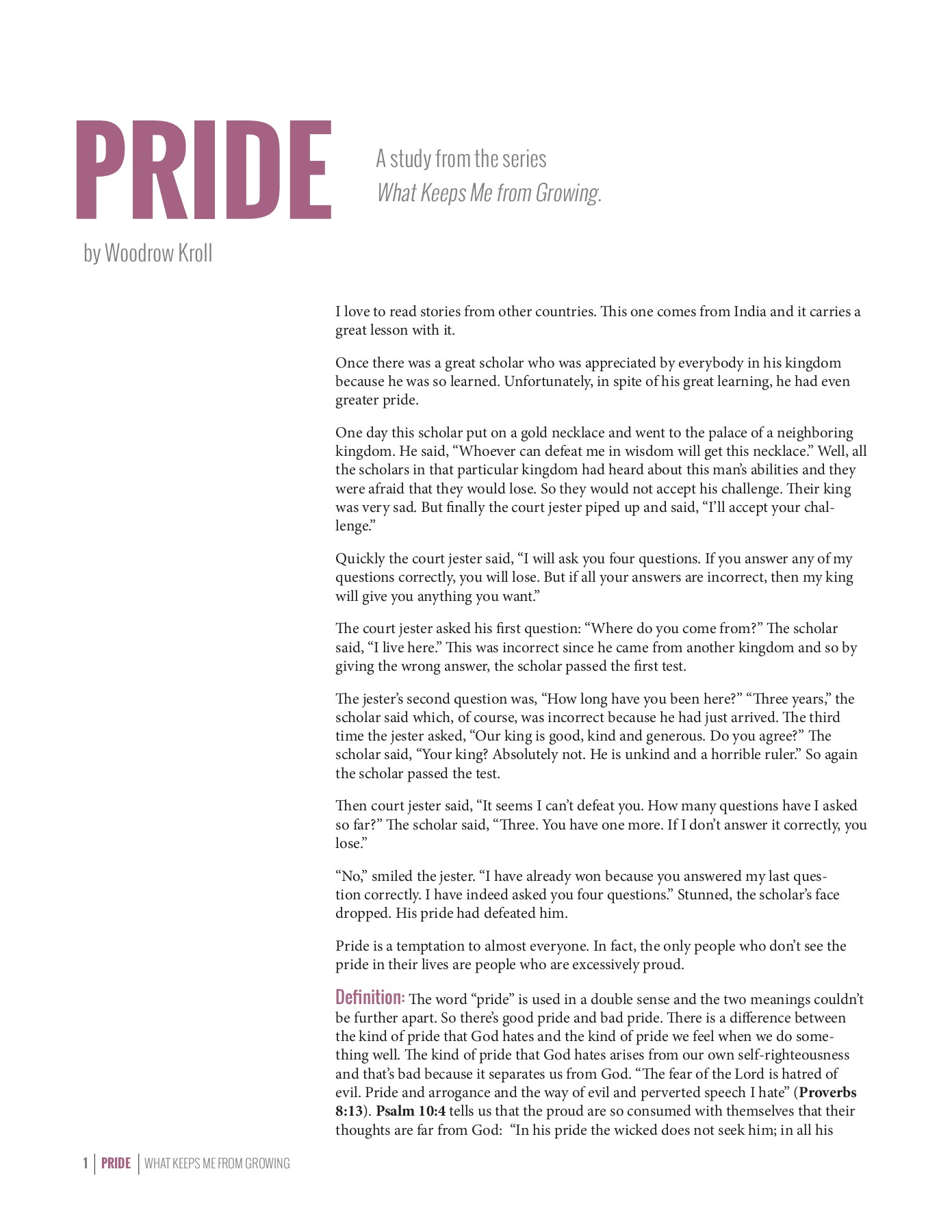 PRIDE - Back to the Bible Pages 1 - 5 - Text Version | AnyFlip