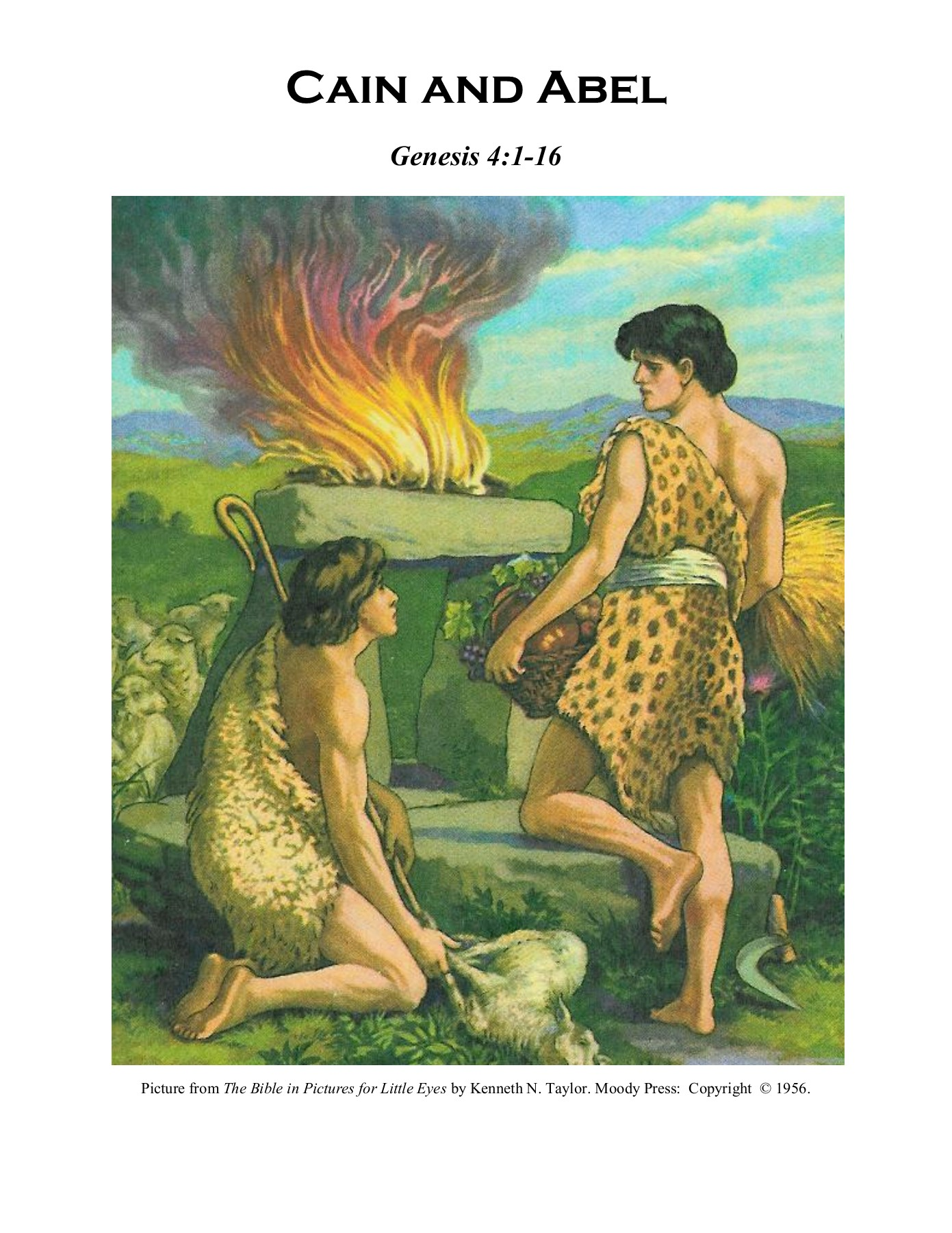 Cain and Abel - Free Sunday School Curriculum