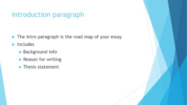 What is background info to an essay