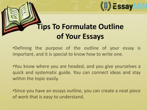 Creating a good essay outline
