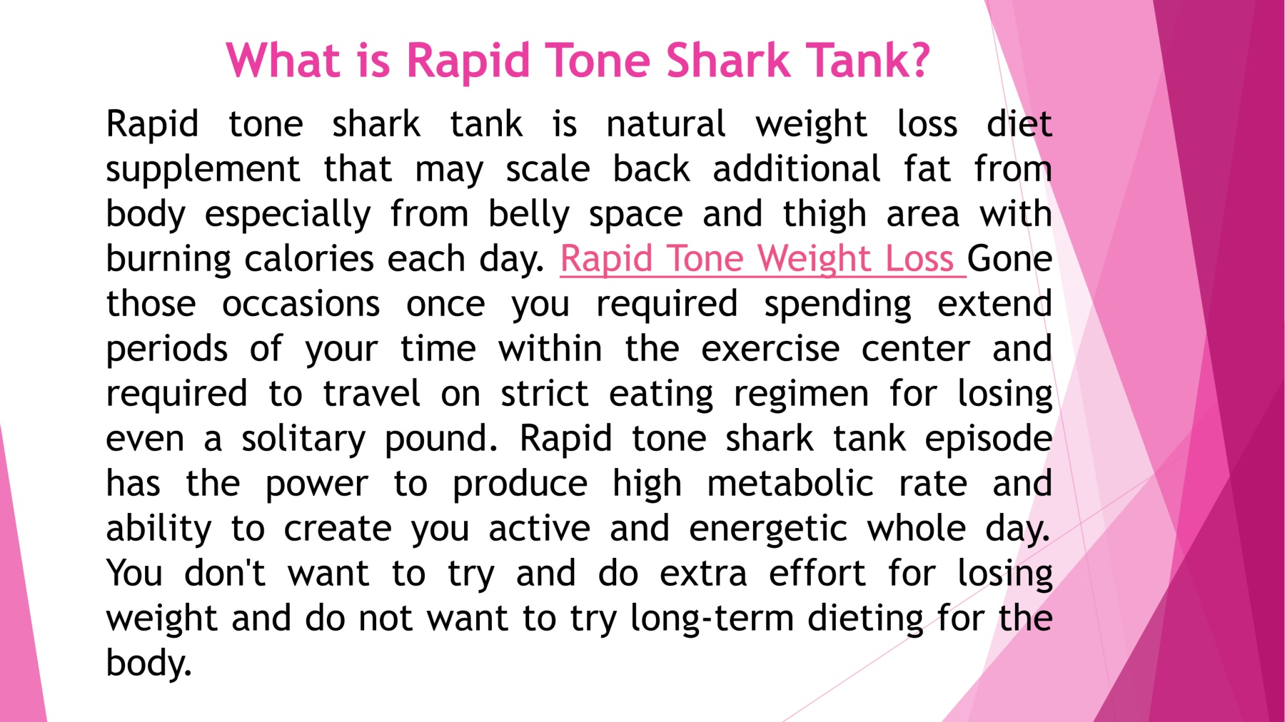 Where To Buy Rapid Tone Shark Tank Weight Loss Price Scam And Buy