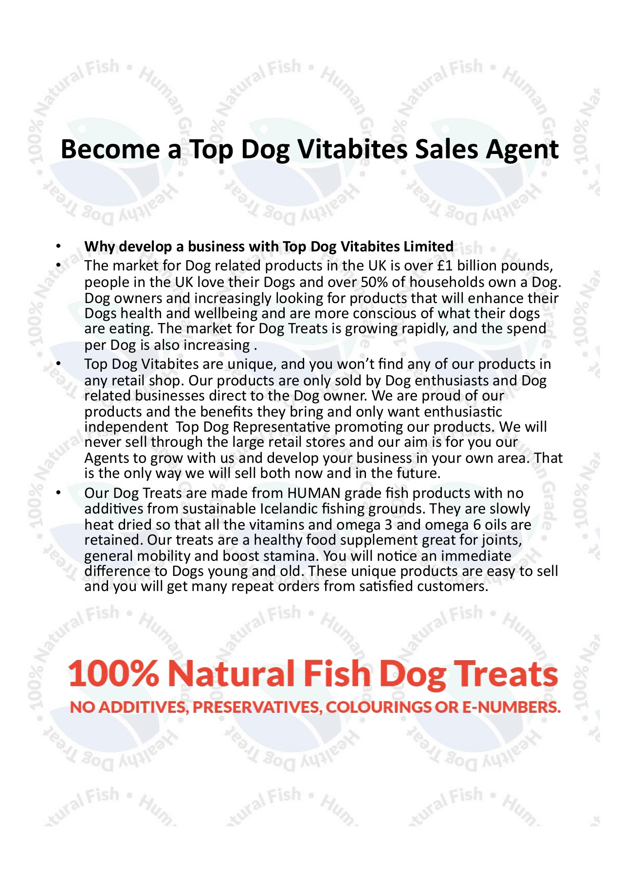 Become a Top Dog Vitabites Sales Agent