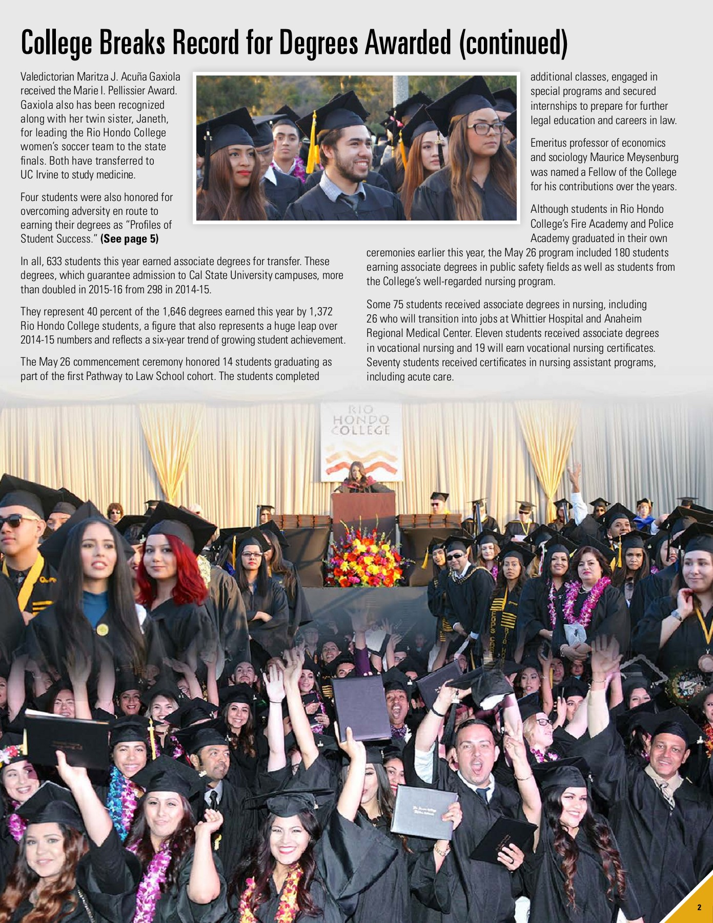 President's Update - May 2016 Pages 1 - 7 - Text Version