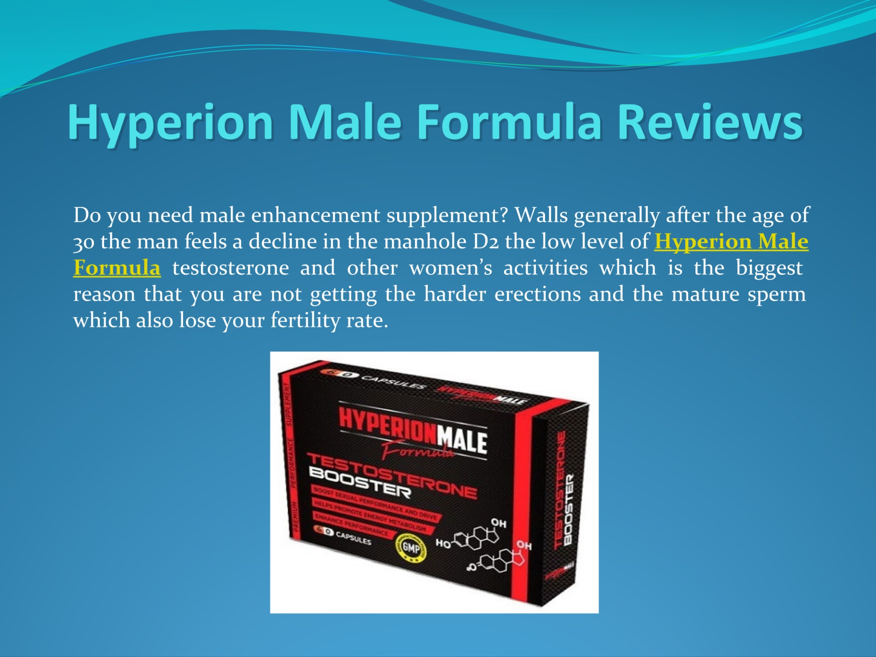 Best tips to use hyperion male formula
