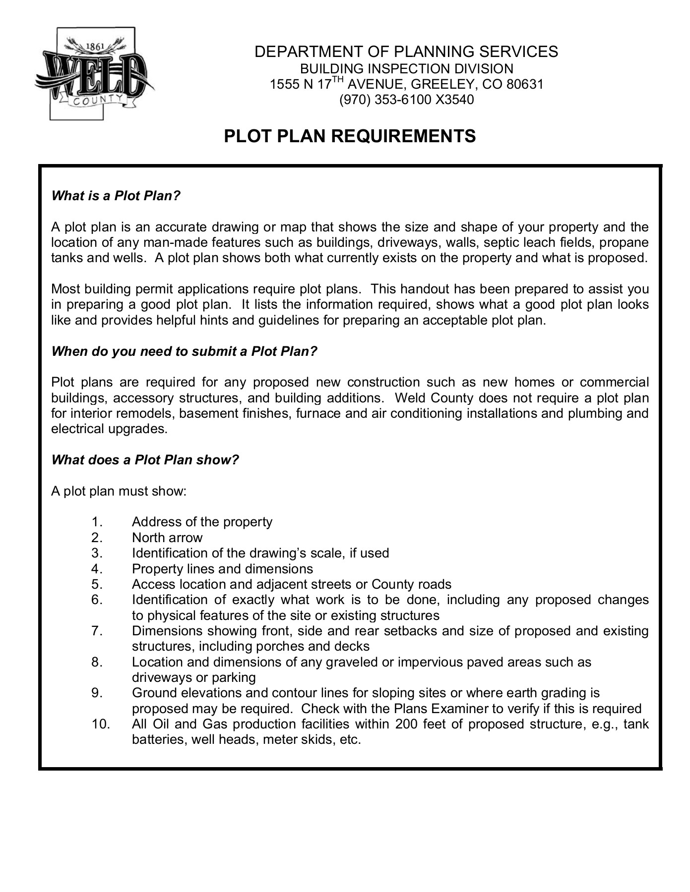 revised 01/2012 page 2 recorded plats and fill in the applicable  structures, landscaping, parking, property  how to prepare a plot plan:  step 1: determine