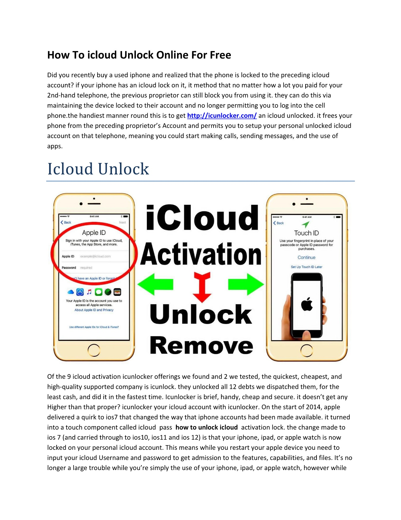 Icloud Unlock Pages 1 - 4 - Text Version | AnyFlip