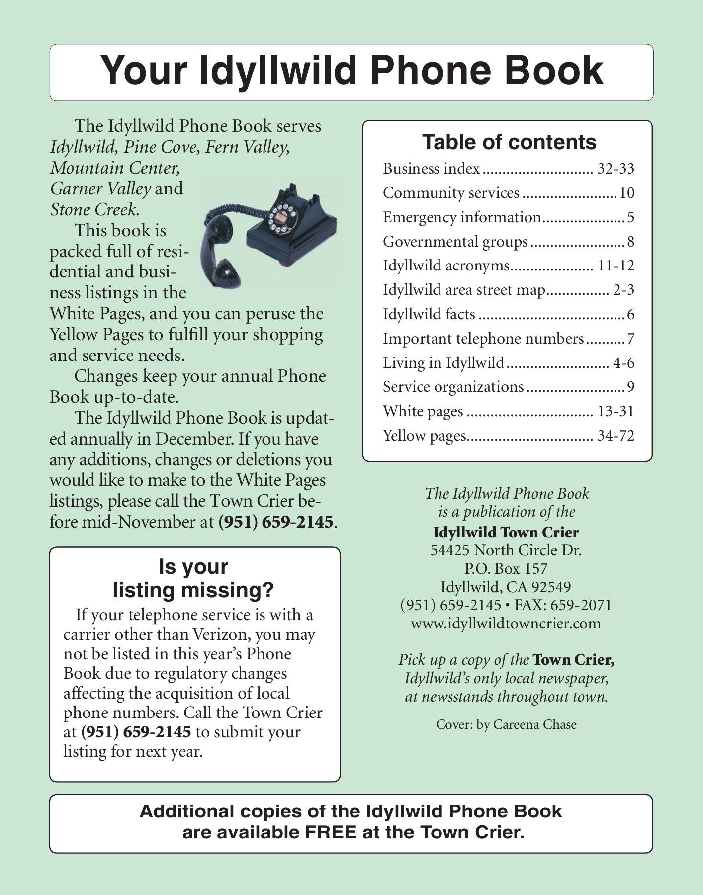 docslide net-2014-idyllwild-phone-book Pages 1 - 50 - Text Version