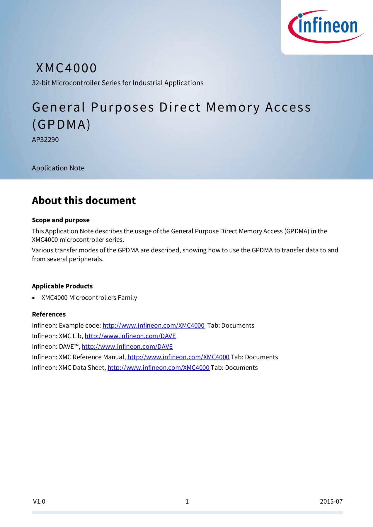 General Purpose Direct Memory Access (GPDMA) Pages 1 - 26