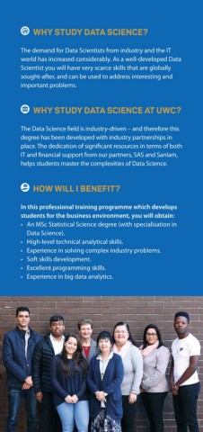 UWC Data Science Brochure Pages 1 - 6 - Text Version | AnyFlip