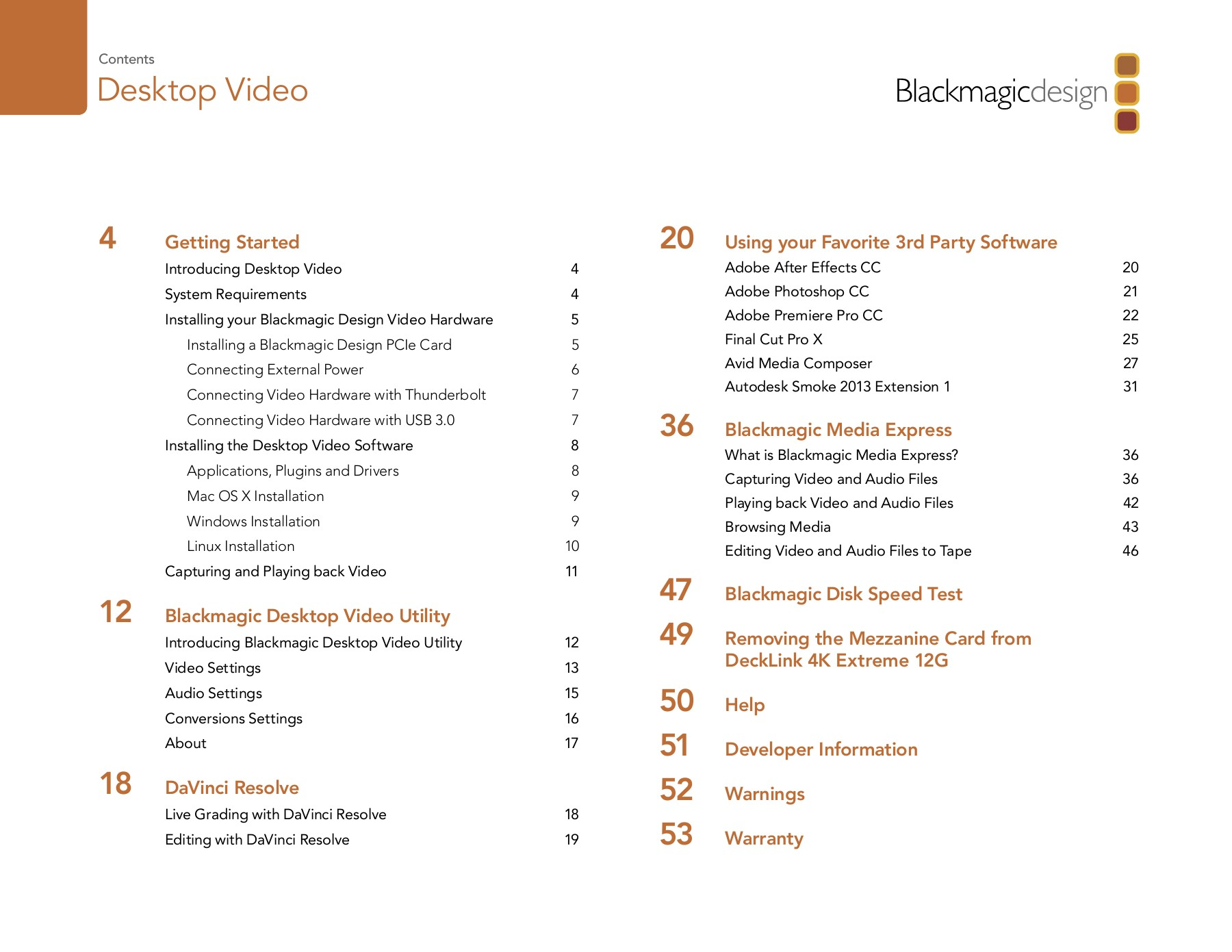 Operation Manual Desktop Video - Blackmagic Design Pages 1 - 50