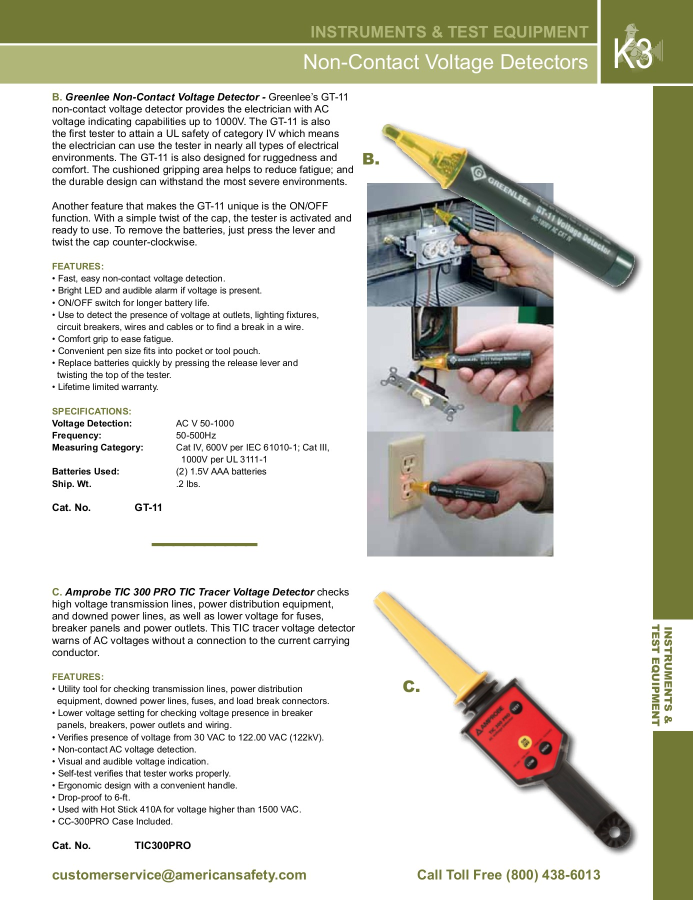 K Instruments Test Equipment Pages 1 26 Text Version Anyflip Noncontact Ac 600v Voltage Detector Electrical Circuit Wire Tester