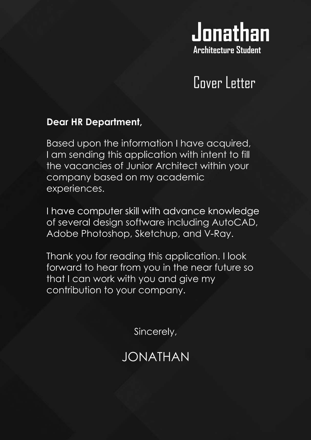 Cover Letter With Portfolio Primary Concept Top Rated