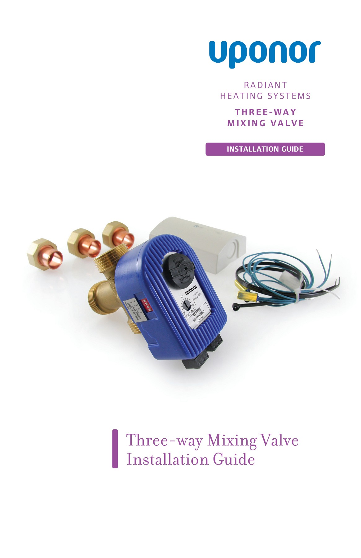 Three-way Mixing Valve Installation Guide - Uponor Pro Pages ... on