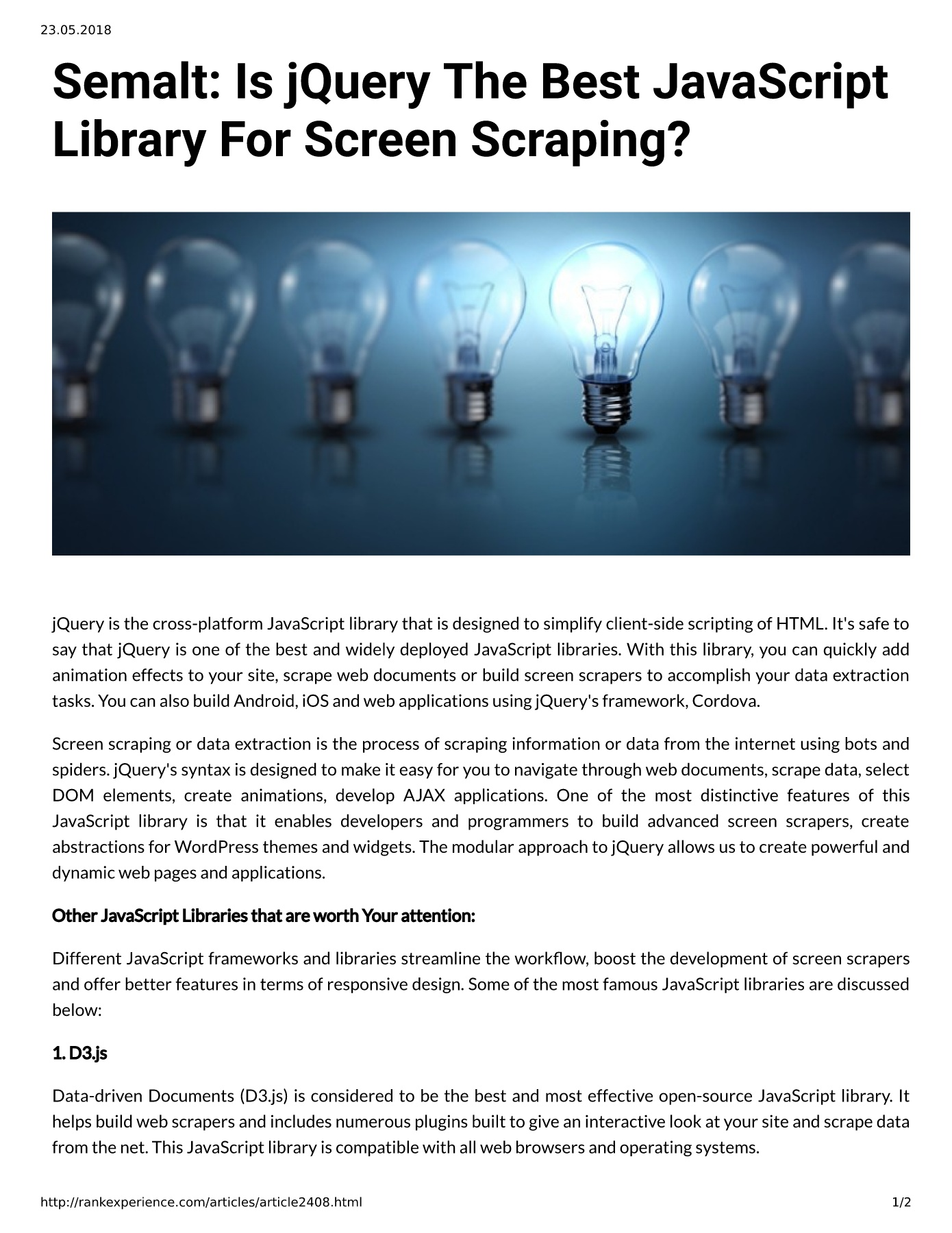 Semalt: Is jQuery The Best JavaScript Library For Screen