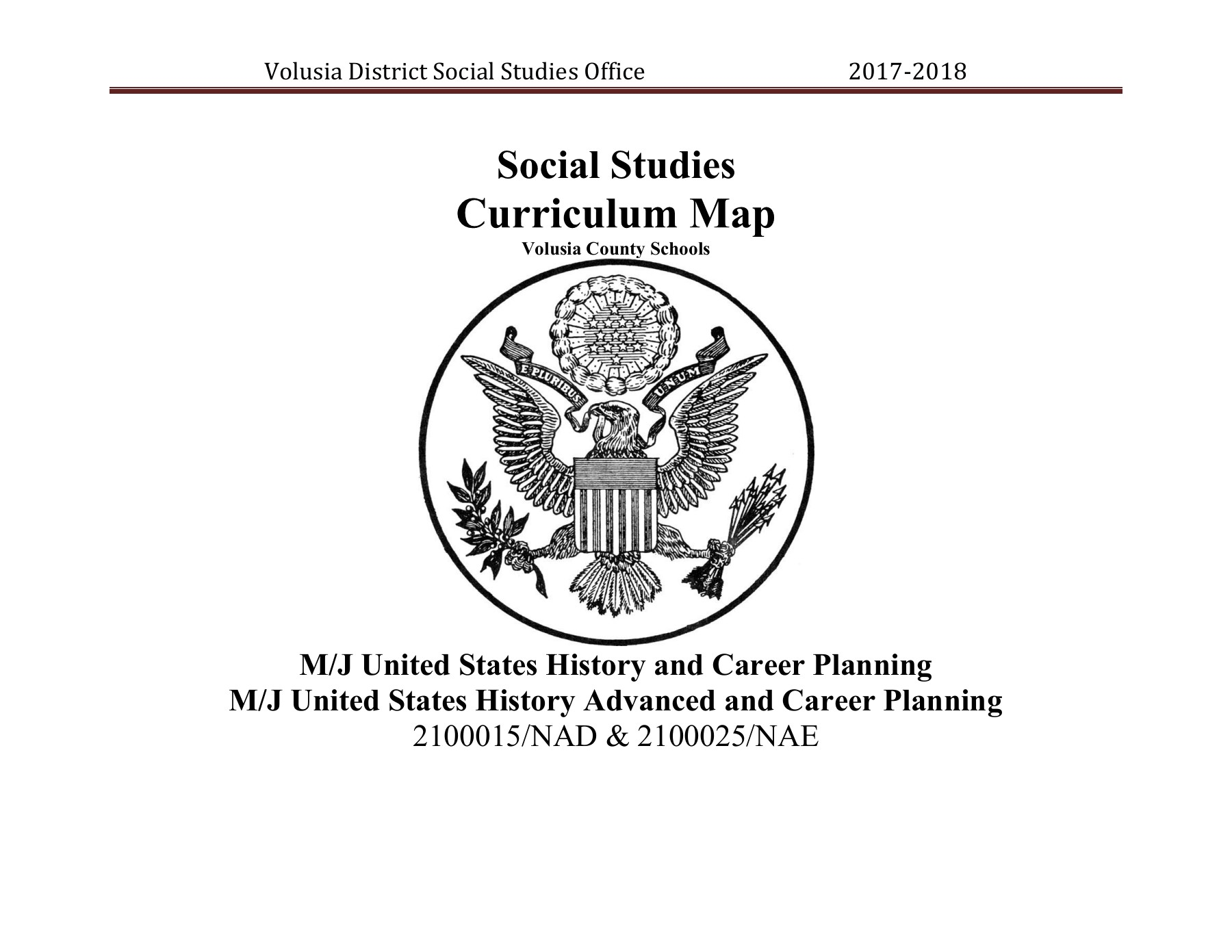 FINAL US History Curriculum 8th Grade 2017 - 2018 Pages 1 ...
