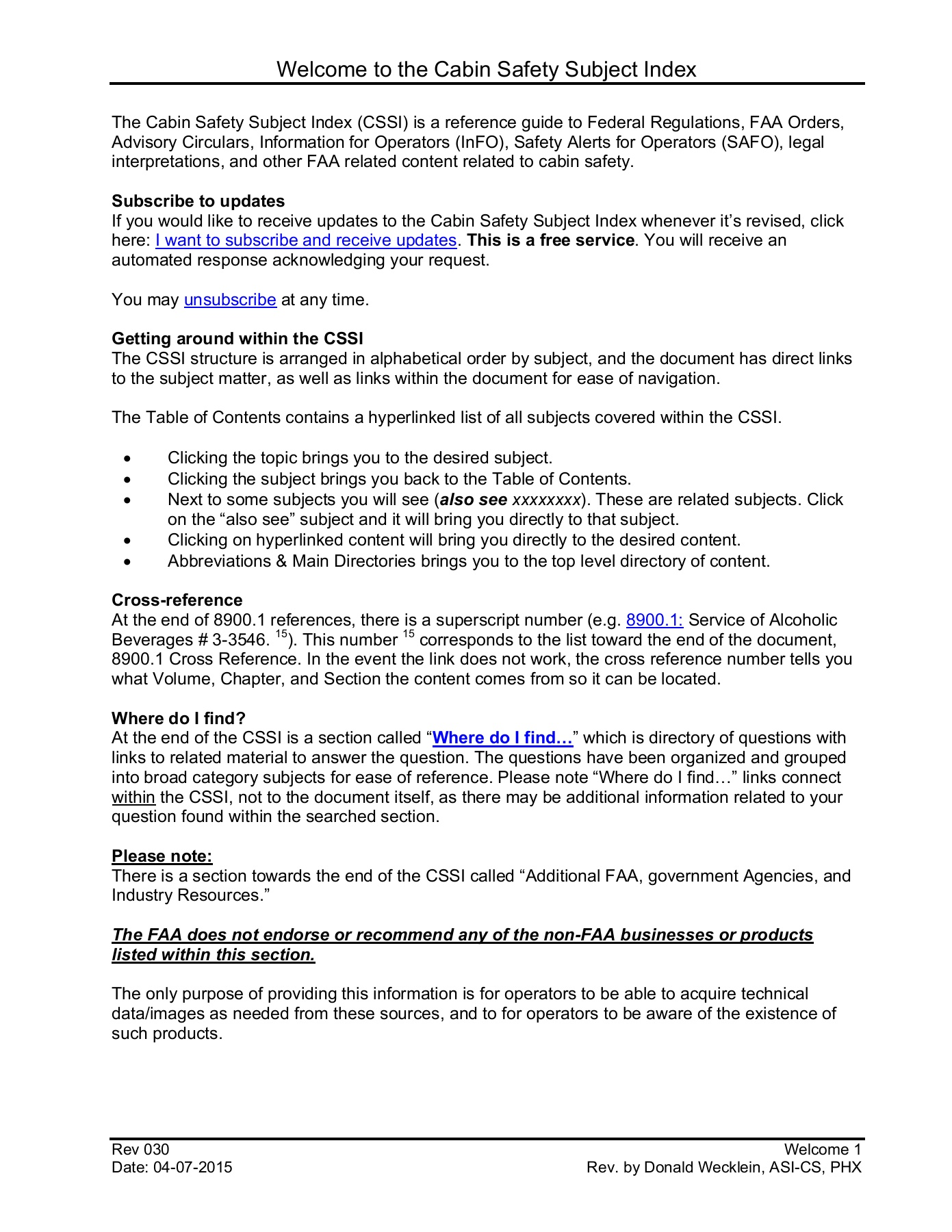 FAA Cabin Safety Index Pages 1 - 50 - Text Version | AnyFlip