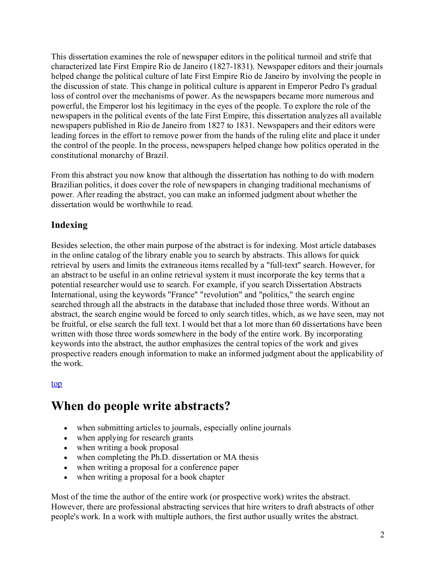 Dissertation abstracts online