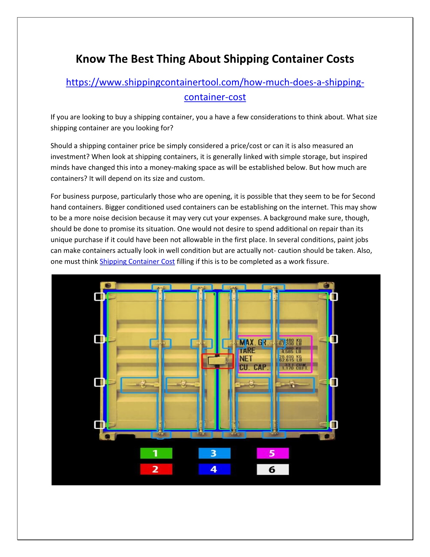 How Much Does a Shipping Container Cost? Pages 1 - 2 - Text