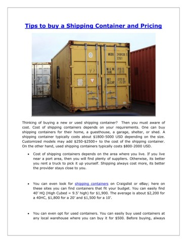 40 Shipping Containers For Sale Ebay >> How Much Does A Shipping Container Cost