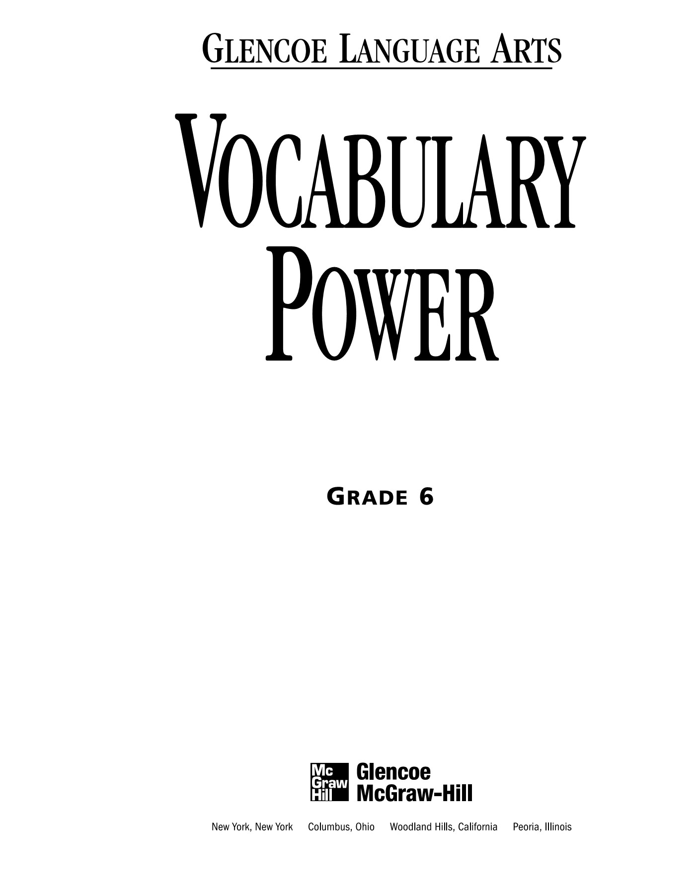 Vocabulary Power Workbook - Glen Co Pages 1 - 50 - Text