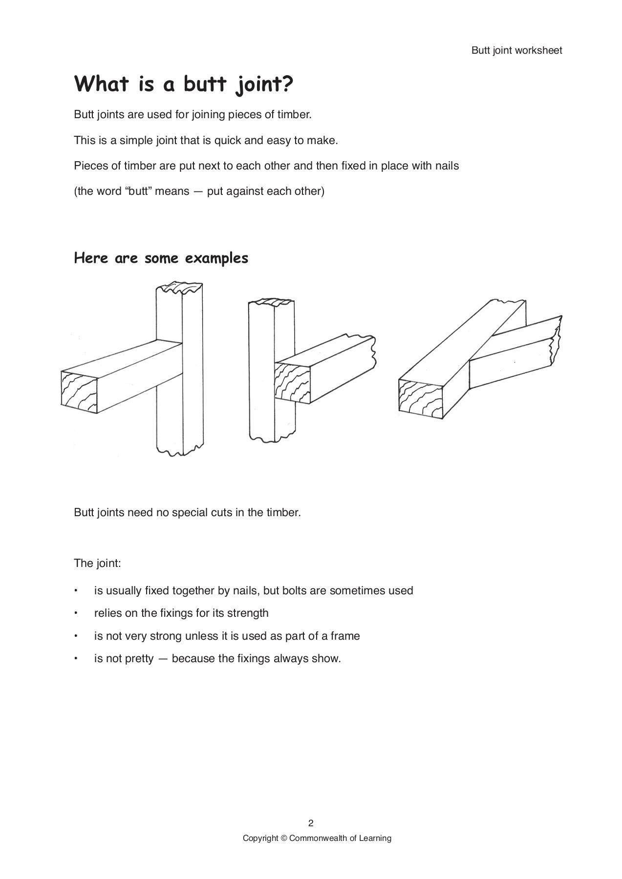 butt joint worksheet - WikiEducator Pages 1 - 8 - Text ...