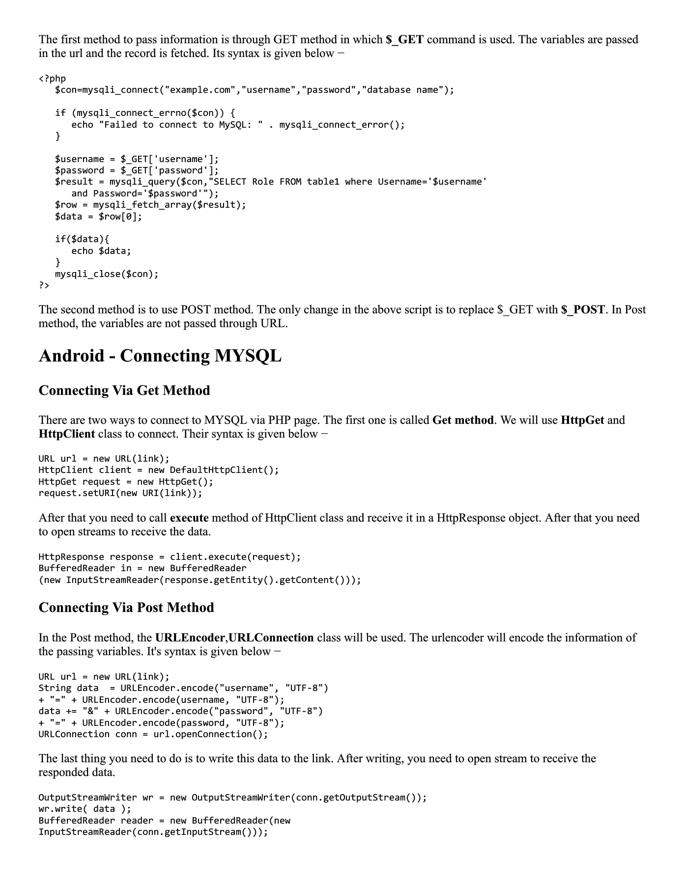 Android PHP_MYSQL Pages 1 - 11 - Text Version   AnyFlip