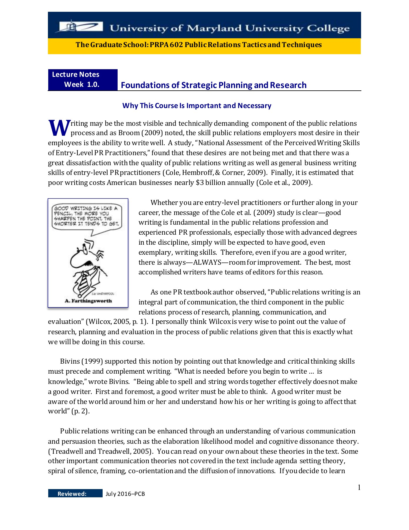 PRPA 602 LECTURE NOTES (PDF Flip) WEEK 1 0  - Foundations of