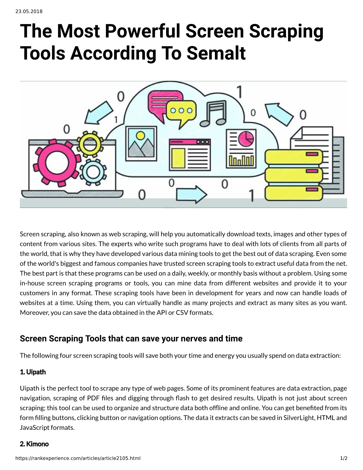 The Most Powerful Screen Scraping Tools According To Semalt Pages 1