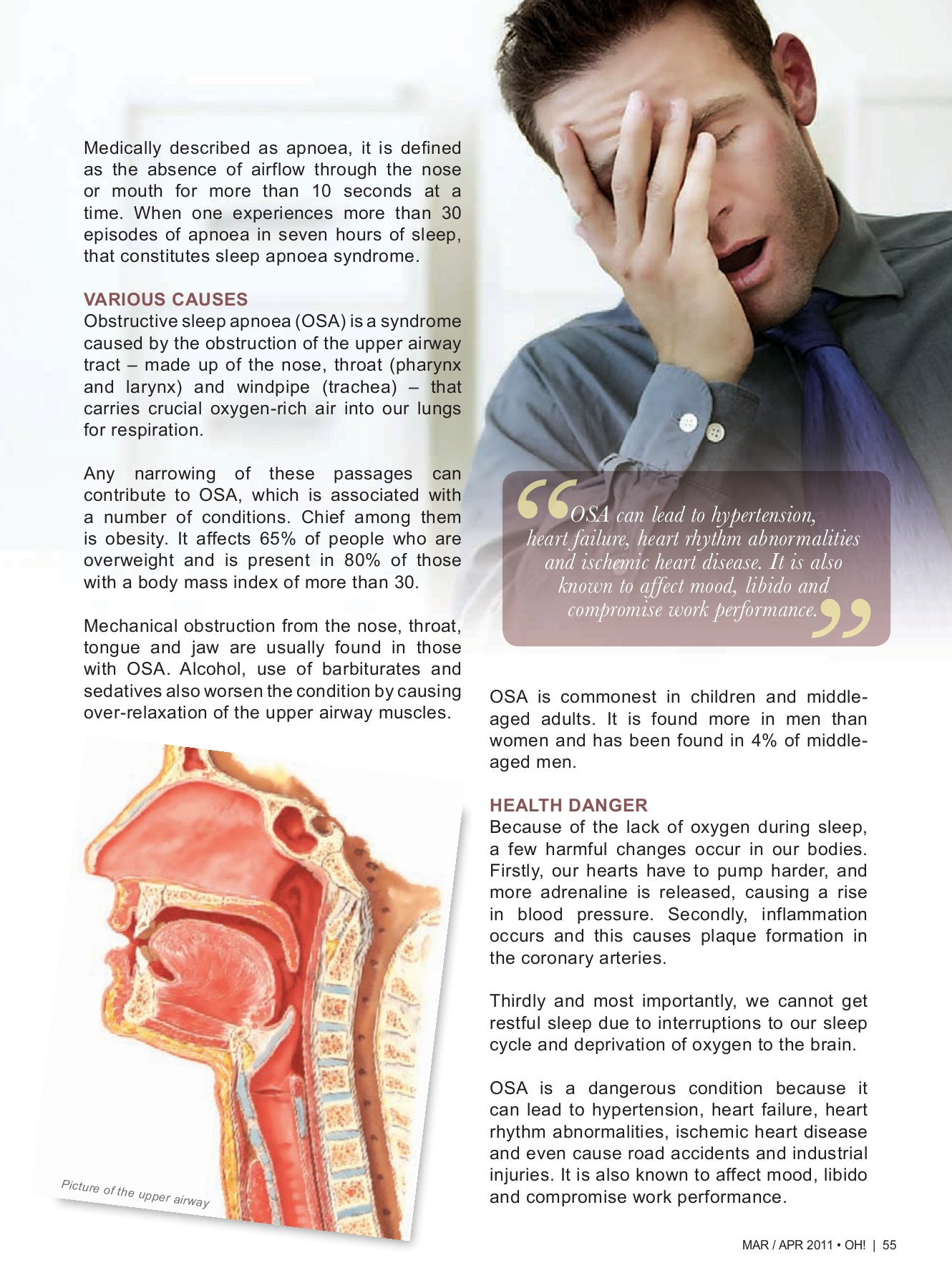 sleep apnoea Obstructive - MSO-HNS Pages 1 - 5 - Text