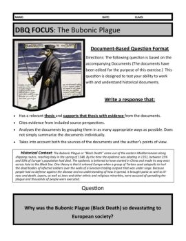 bubonic plague dbq essay Bubonic plague essay black death medical professionals are now of the same opinion that the black death was the bubonic plague black death the plague dbq.