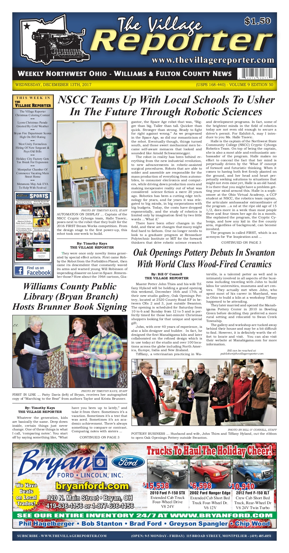 The Village Reporter - December 13th, 2017 Pages 1 - 40 - Text ...