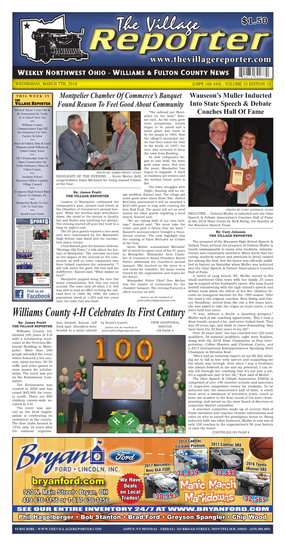 The Village Reporter March 7th 2018 Pages 1 44 Text Version Cadillac Cts Wiring Diagram 2004 Gmos 06 Axxess
