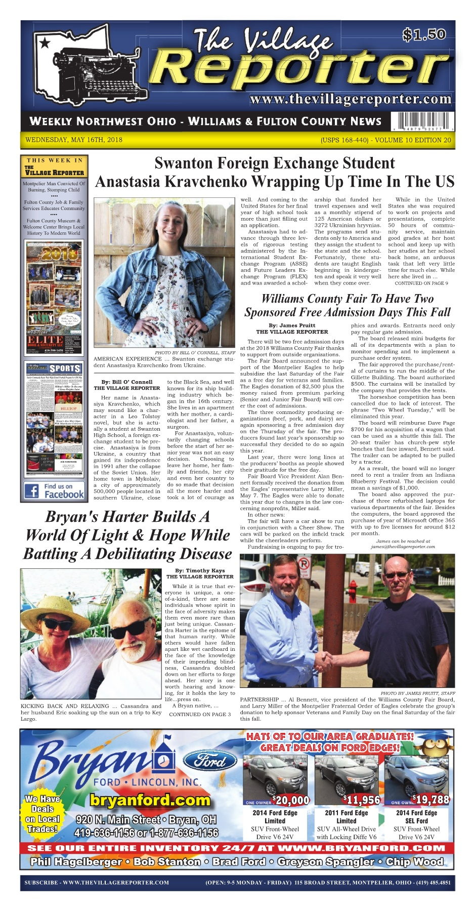 The Village Reporter - May 16th, 2018 Pages 1 - 50 - Text