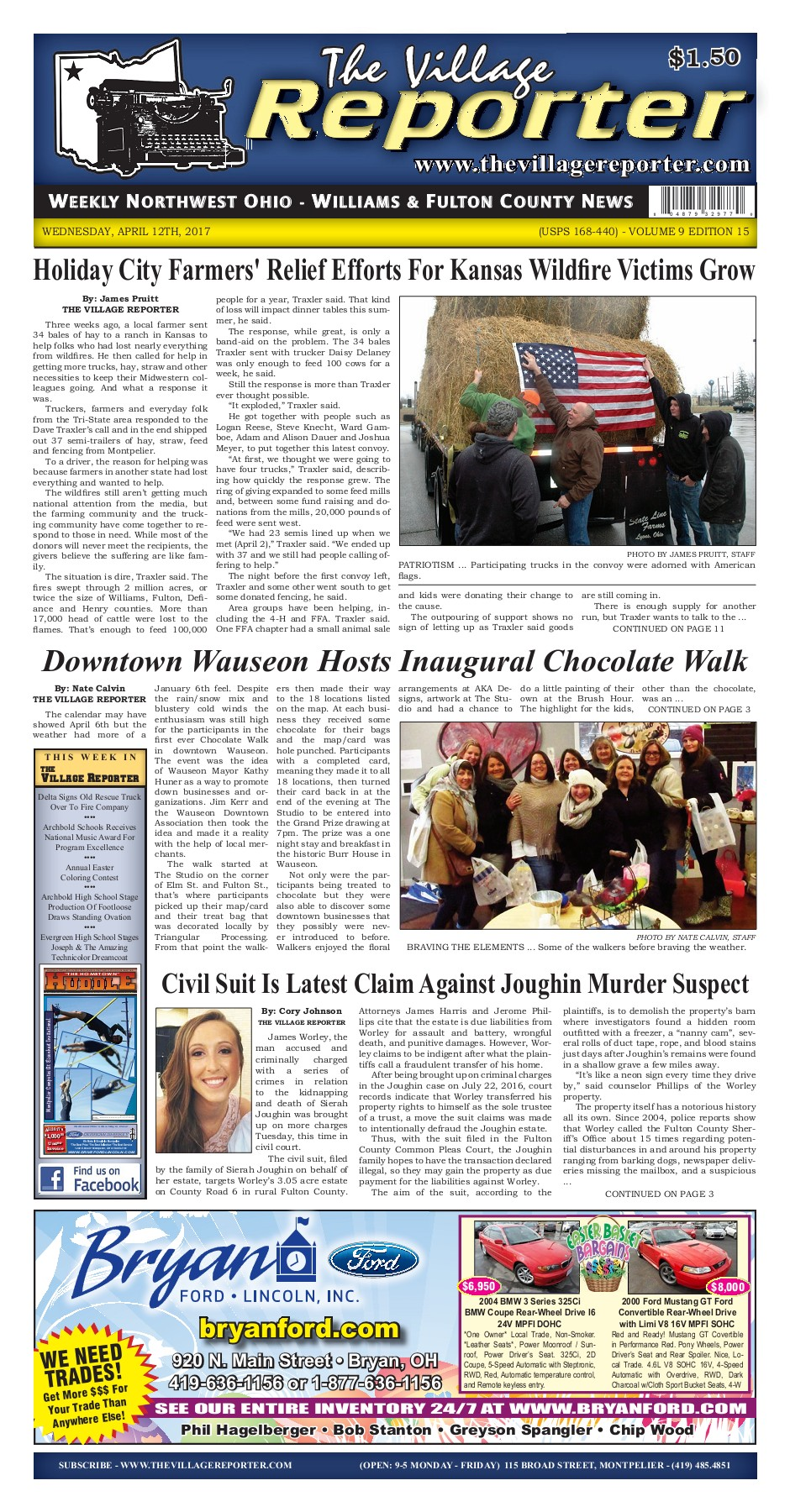 The Village Reporter - April 12th, 2017 Pages 1 - 48 - Text