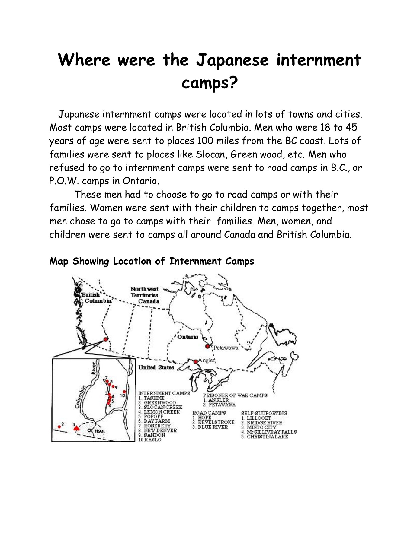 Japanese Internment Camps Pages 1 13 Text Version Anyflip - Map-of-japanese-internment-camps-in-us