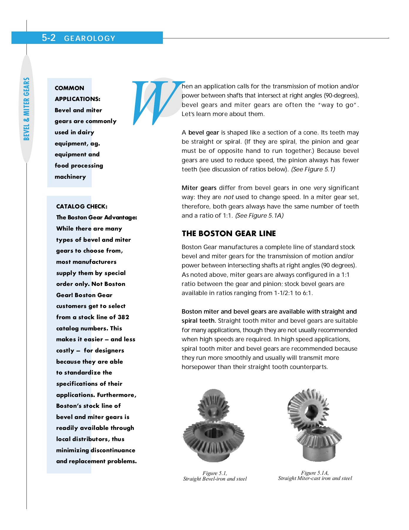 BEVEL AND MITER GEARS 5 - Boston Gear Pages 1 - 15 - Text