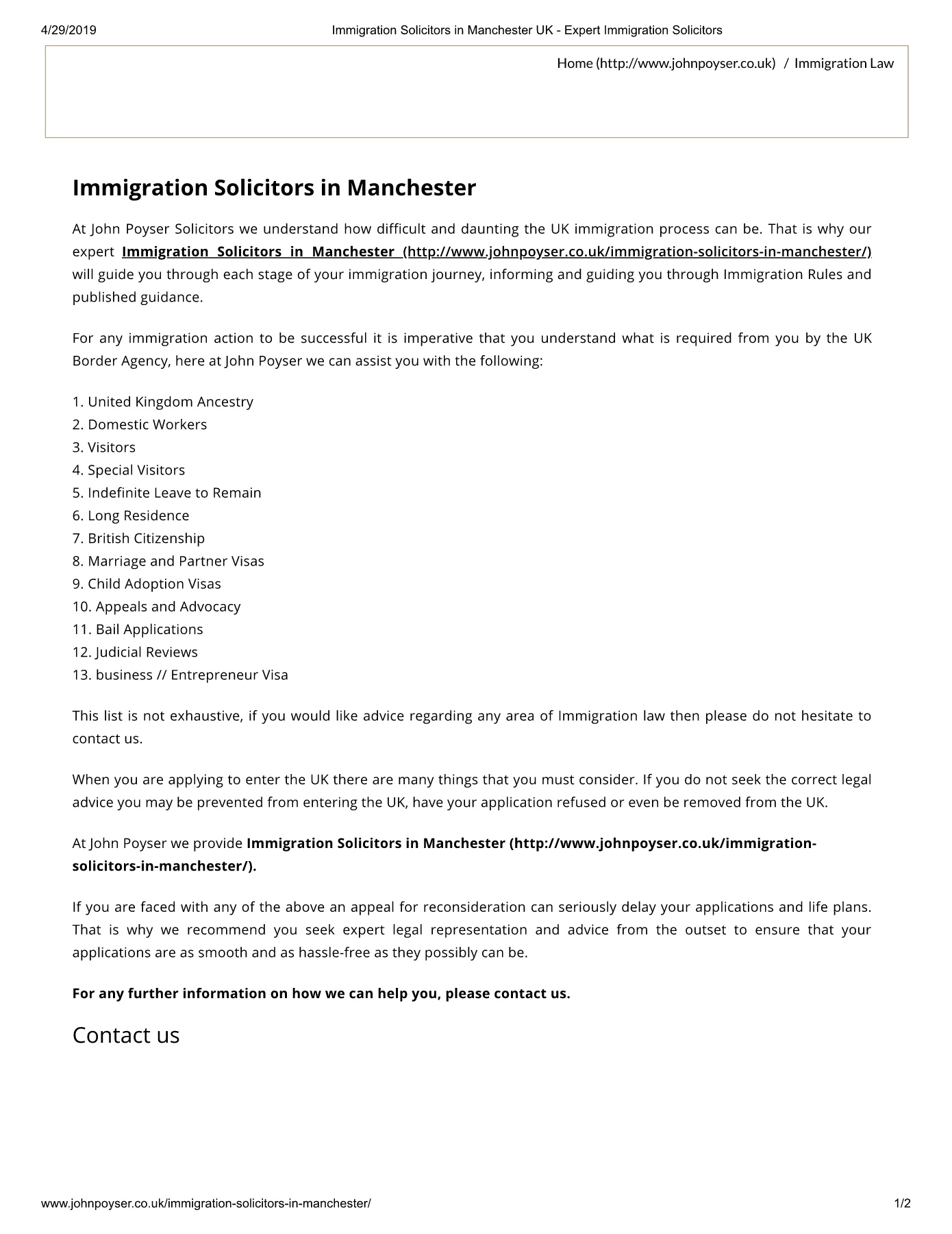 Immigration Solicitors in Manchester UK - Expert Immigration