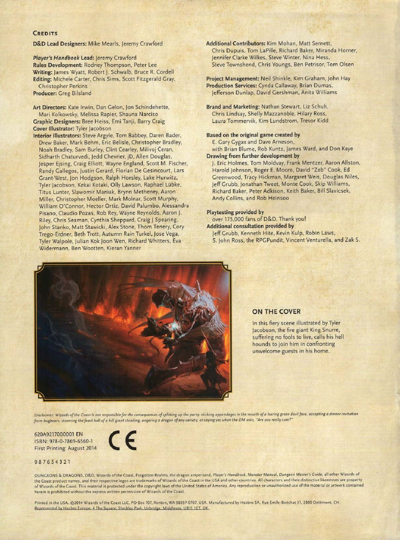 Dungeons & Dragons D&D 5E 5th Ed - Player's Handbook - Color