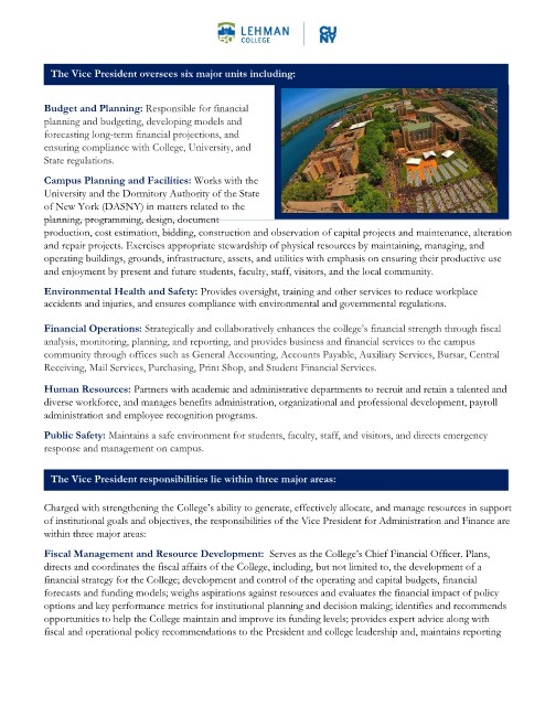 Page 2 - Position Annoucement - VP Administration and Finance