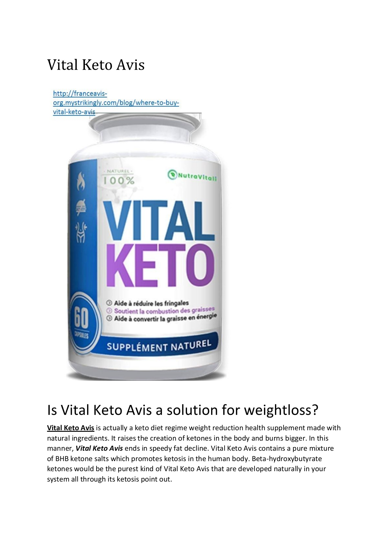 Vital Keto Avis Pages 1 4 Text Version Anyflip