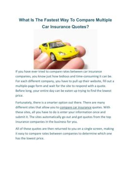 Compare Motor Insurance Online Plans Before The Final Investment