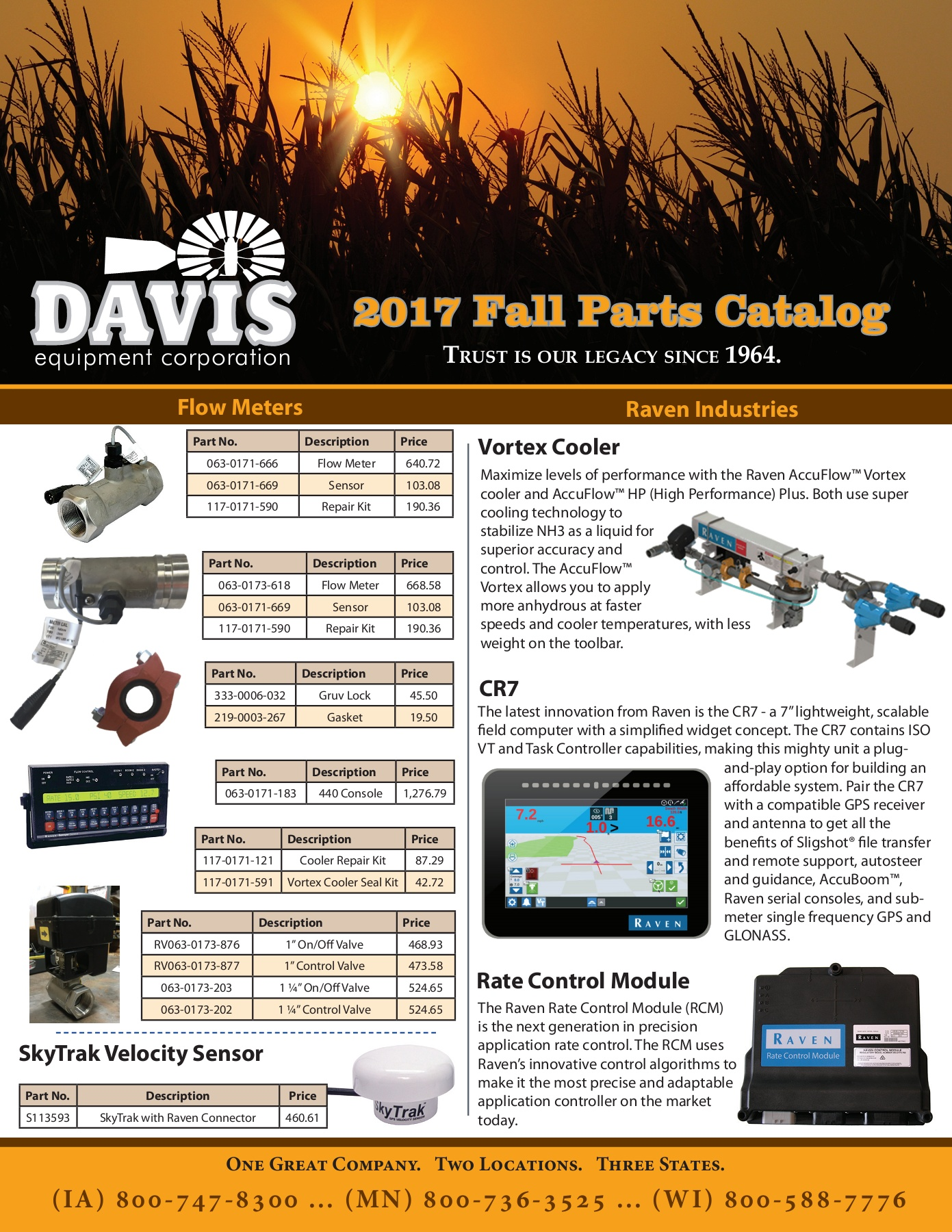 Davis Equipment Fall 2017 Parts Catalog Pages 1 - 20 - Text ... on