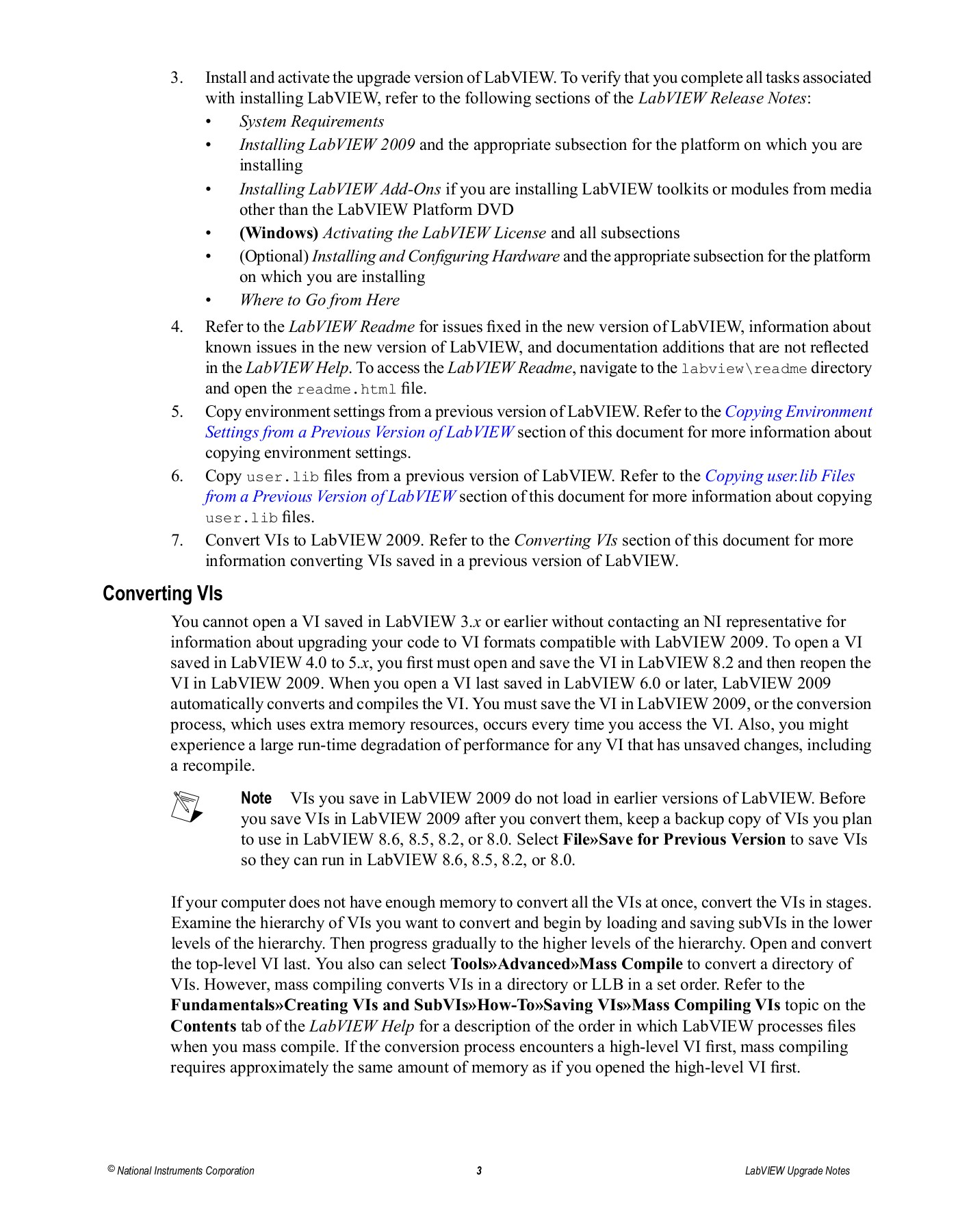 LabVIEW Upgrade Notes - National Instruments Pages 1 - 50 - Text