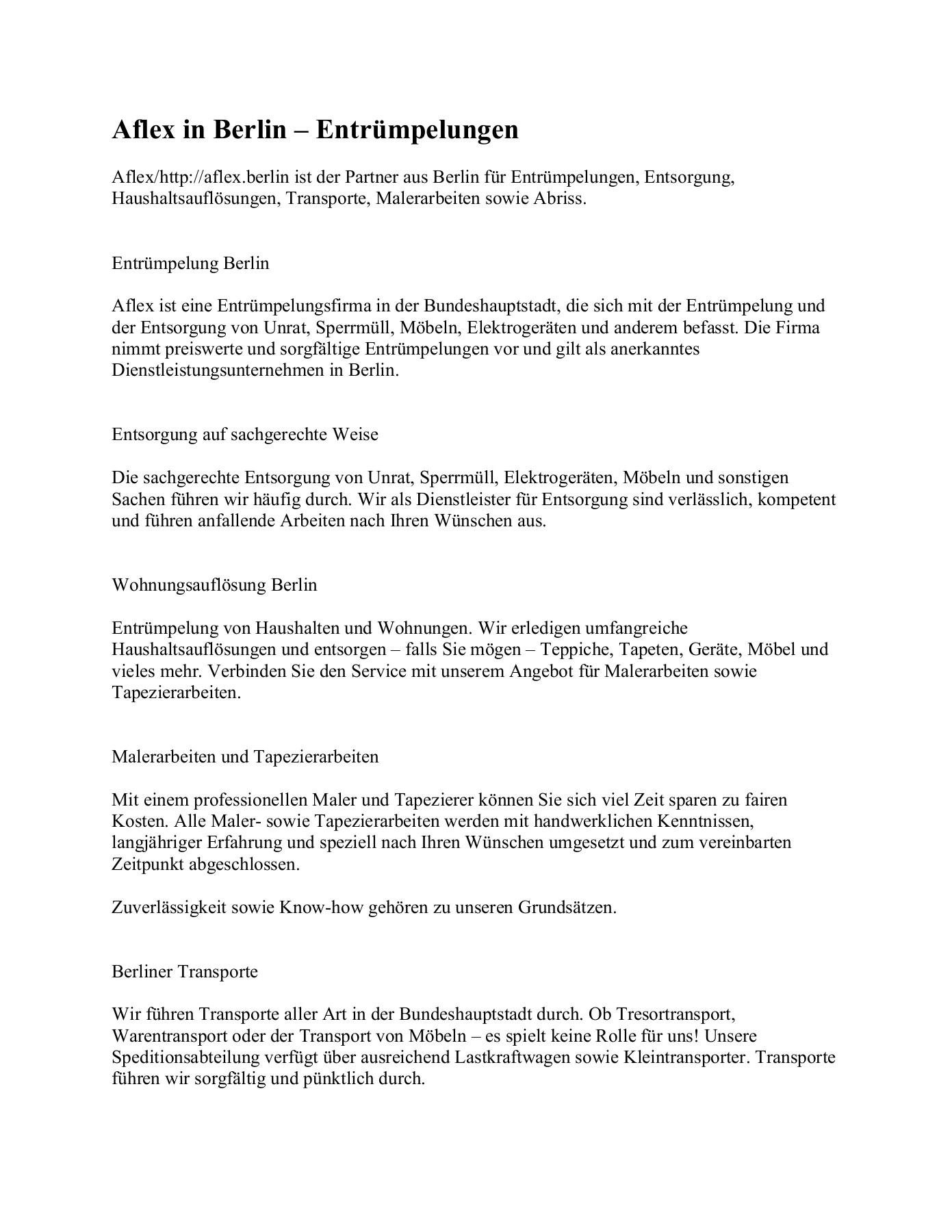 Wohnungsauflosung Berlin Pages 1 2 Text Version Anyflip