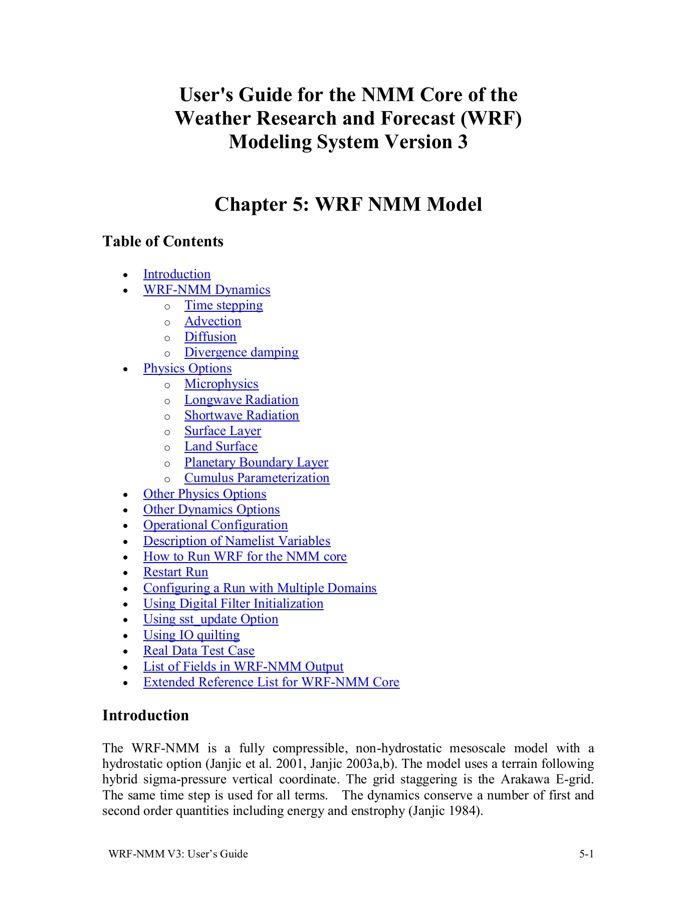 Chapter 5: WRF Model - Developmental Testbed Center Pages 1